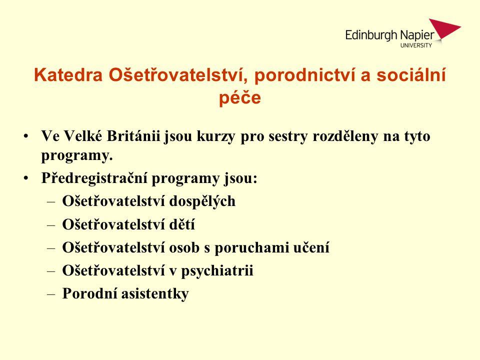 Katedra Ošetřovatelství, porodnictví a sociální péče