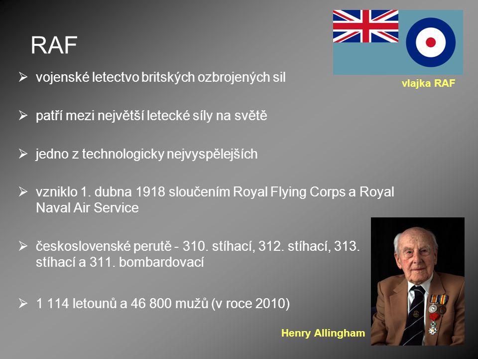 RAF vojenské letectvo britských ozbrojených sil