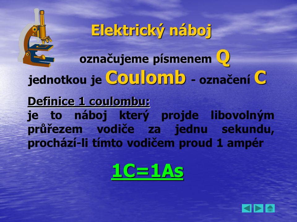 jednotkou je Coulomb - označení C
