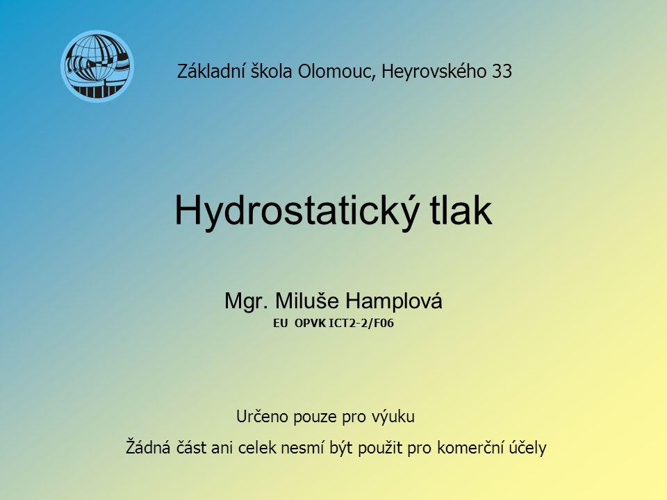 Mgr. Miluše Hamplová EU OPVK ICT2-2/F06