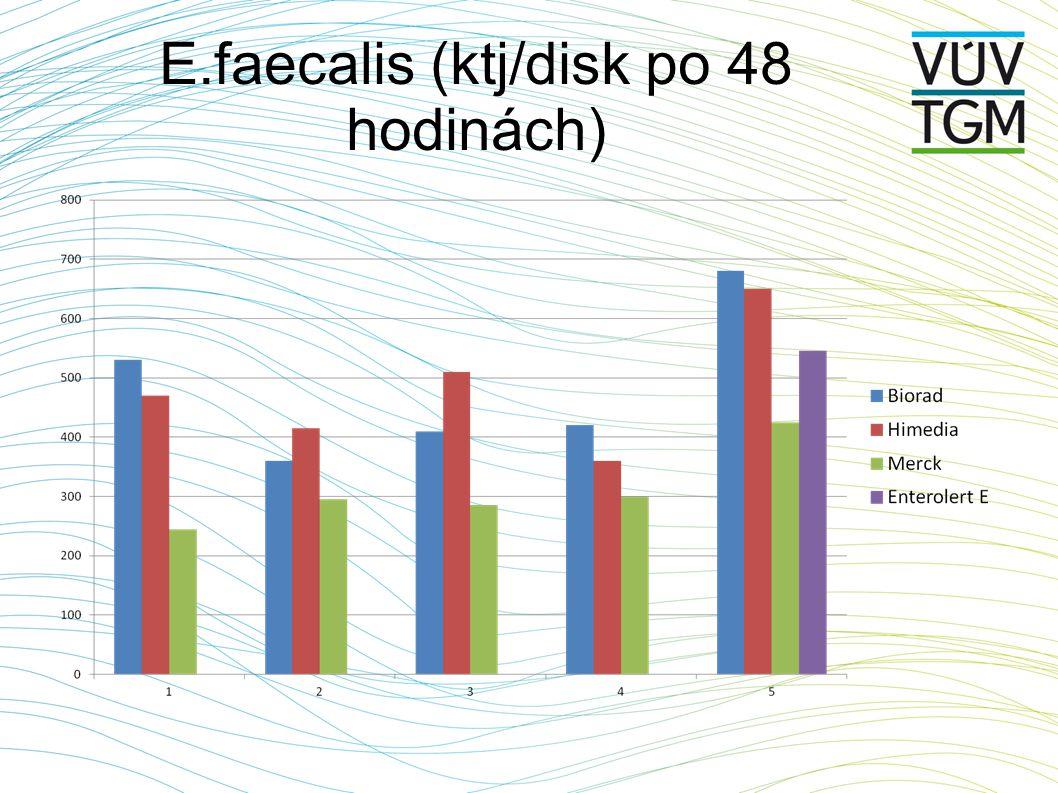 E.faecalis (ktj/disk po 48 hodinách)