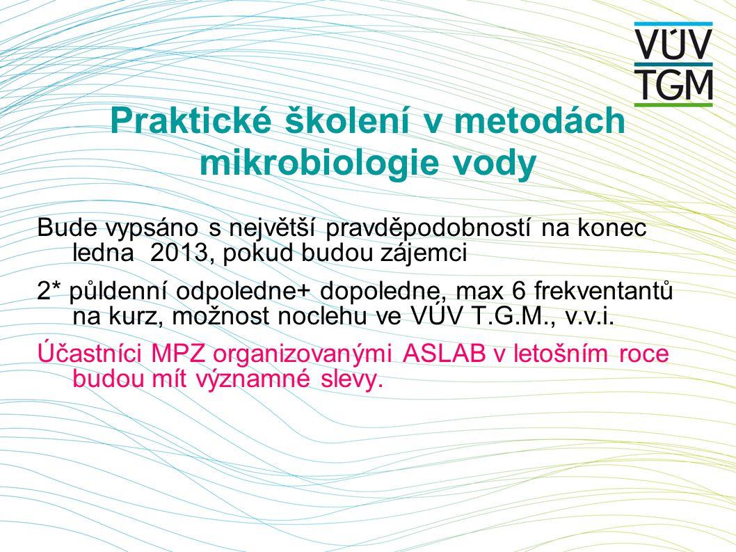Praktické školení v metodách mikrobiologie vody