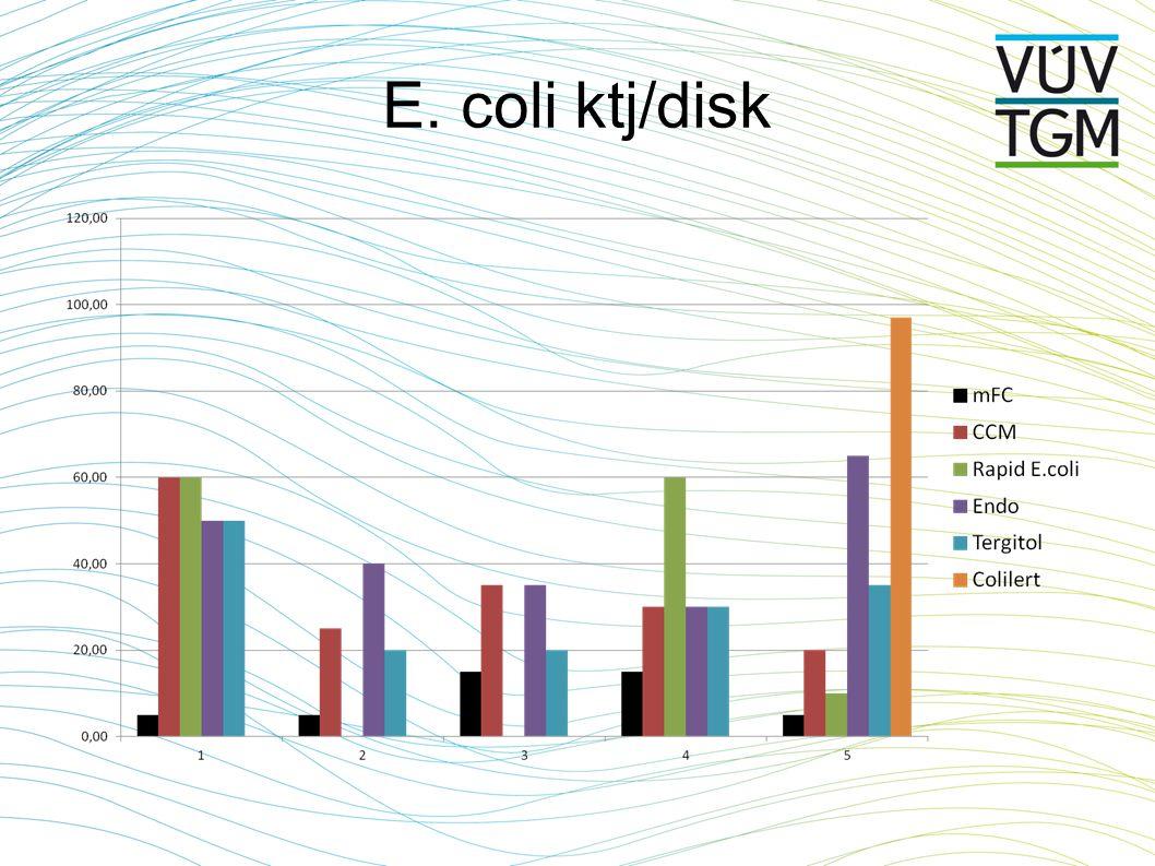 E. coli ktj/disk