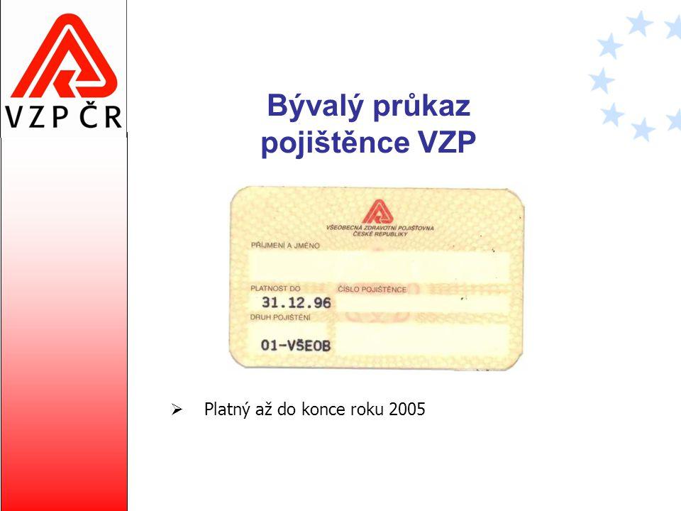 Bývalý průkaz pojištěnce VZP