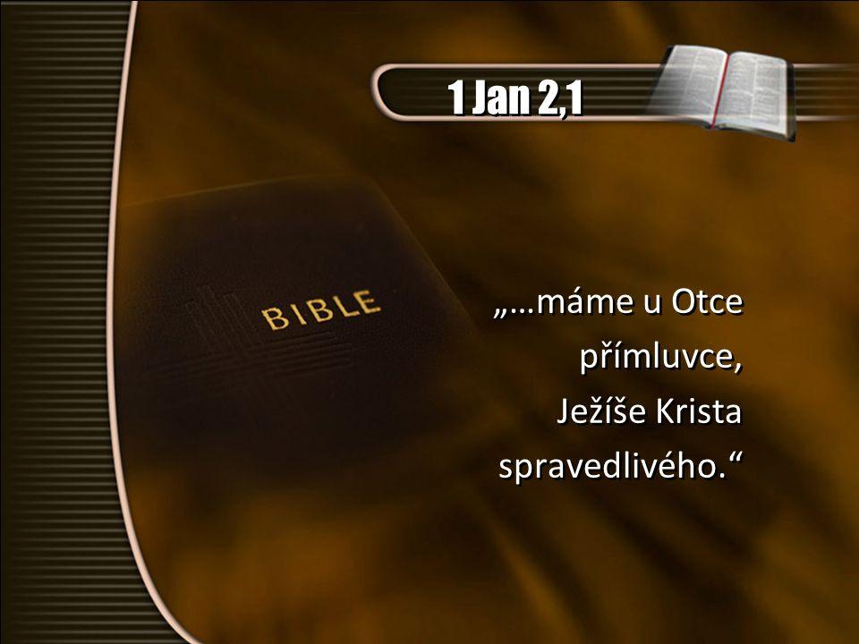 """1 Jan 2,1 """"…máme u Otce přímluvce, Ježíše Krista spravedlivého."""
