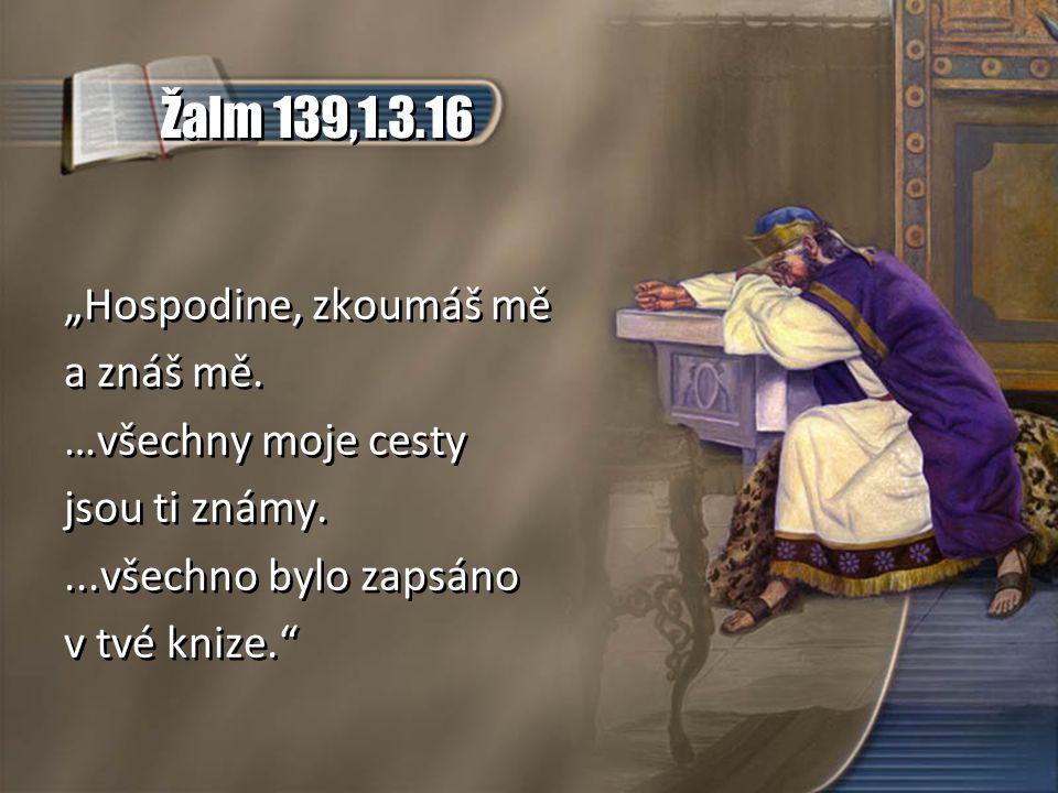 """Žalm 139,1.3.16 """"Hospodine, zkoumáš mě a znáš mě. …všechny moje cesty"""