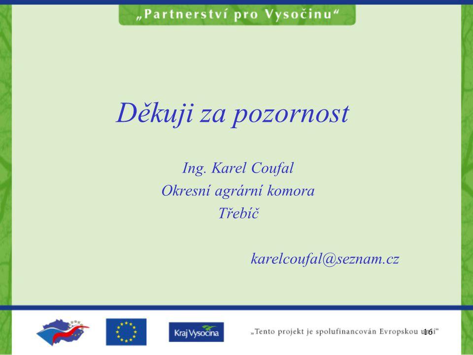 Ing. Karel Coufal Okresní agrární komora Třebíč karelcoufal@seznam.cz