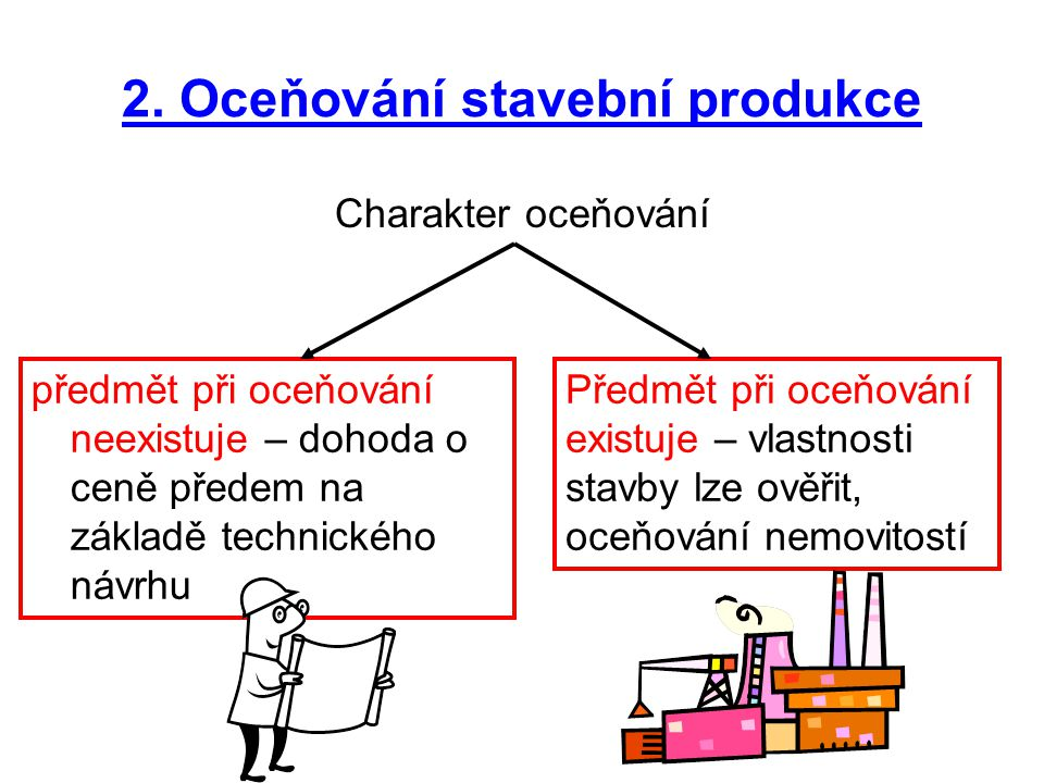 2. Oceňování stavební produkce