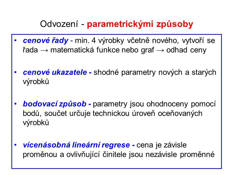 Odvození - parametrickými způsoby