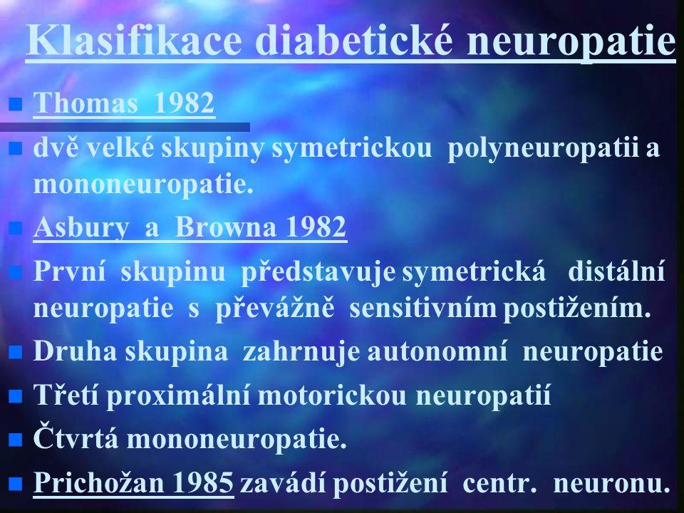 Klasifikace diabetické neuropatie