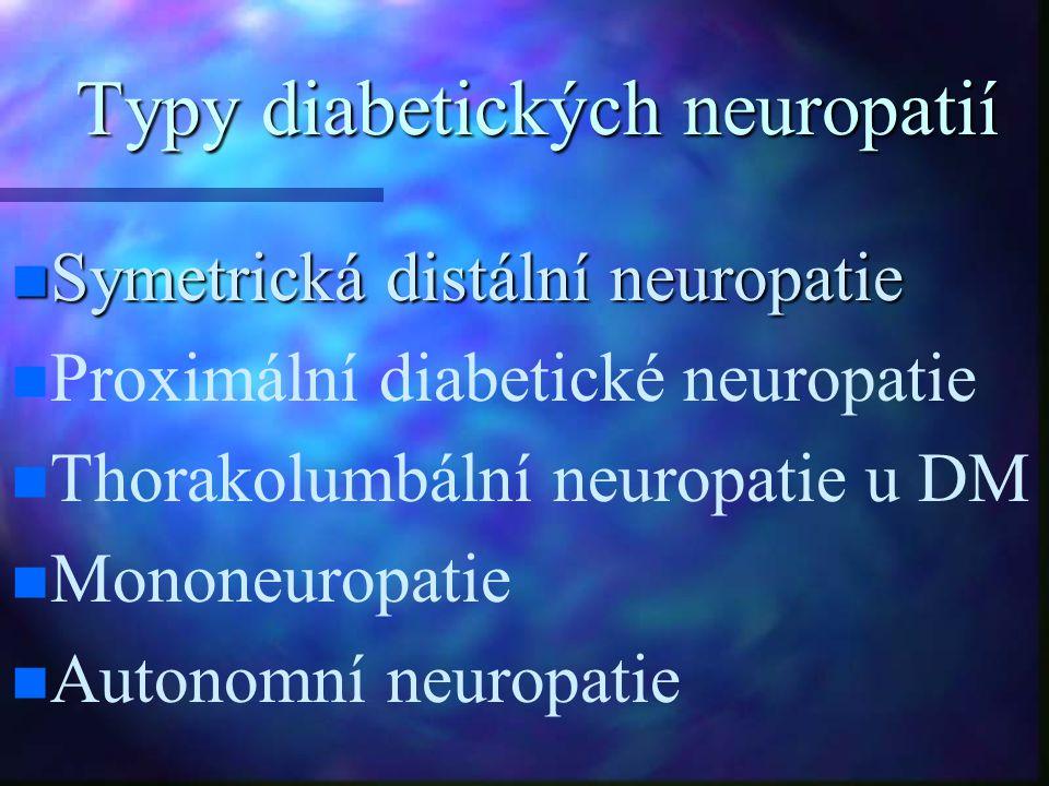 Typy diabetických neuropatií