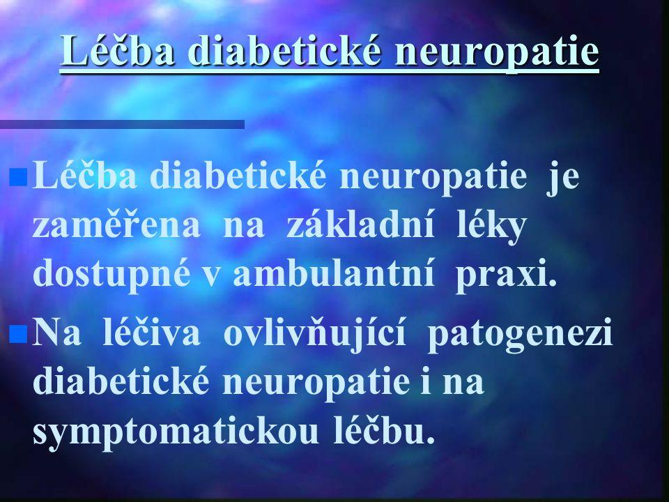 Léčba diabetické neuropatie