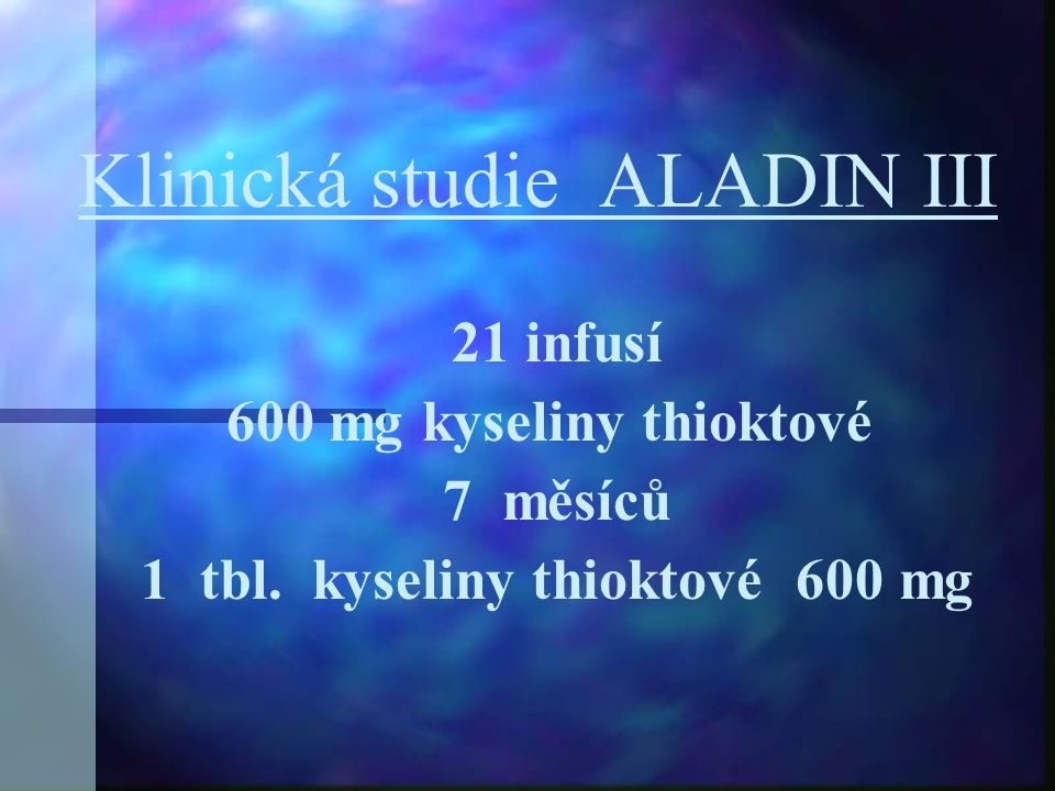 Klinická studie ALADIN III