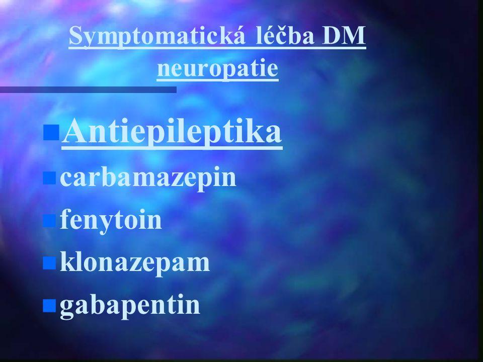 Symptomatická léčba DM neuropatie