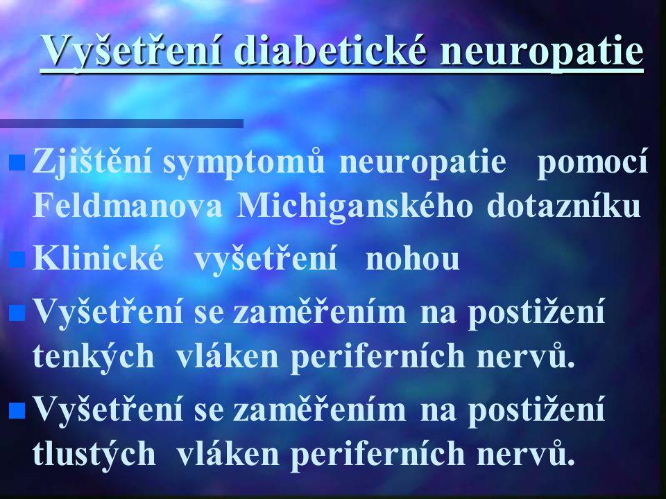 Vyšetření diabetické neuropatie