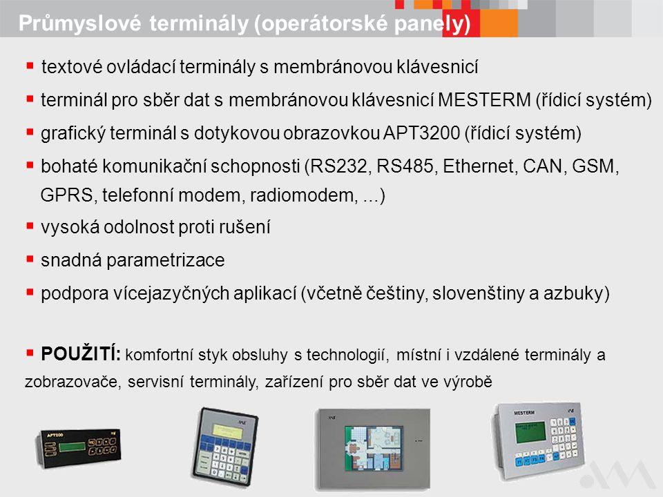 Průmyslové terminály (operátorské panely)