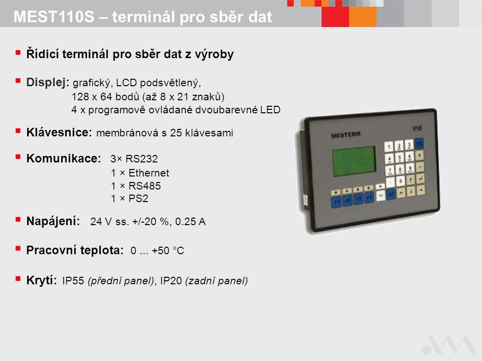 MEST110S – terminál pro sběr dat