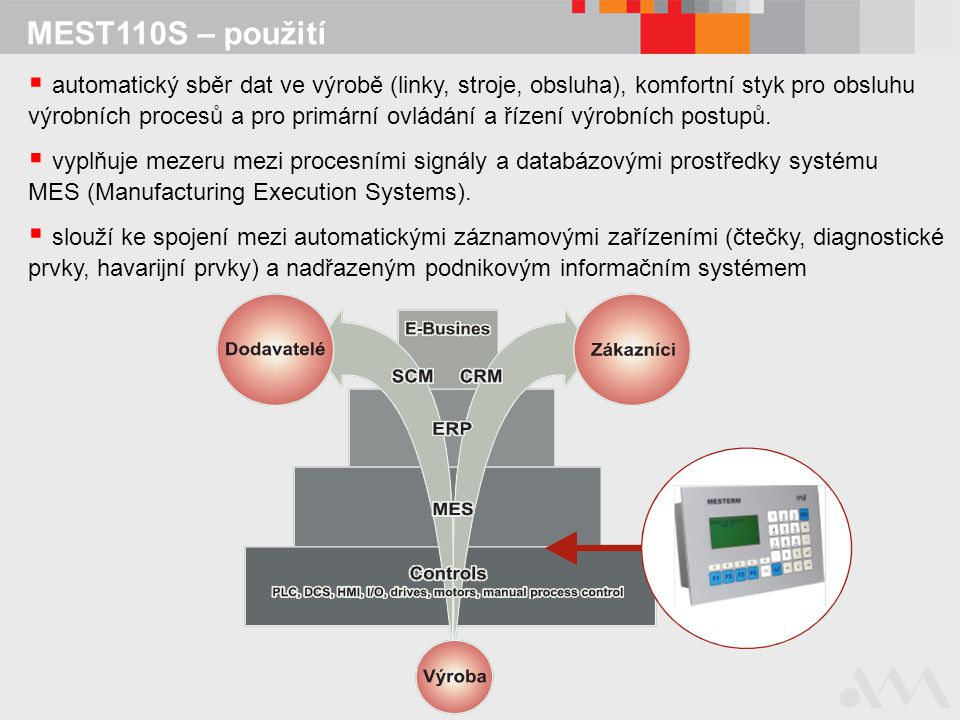 MEST110S – použití