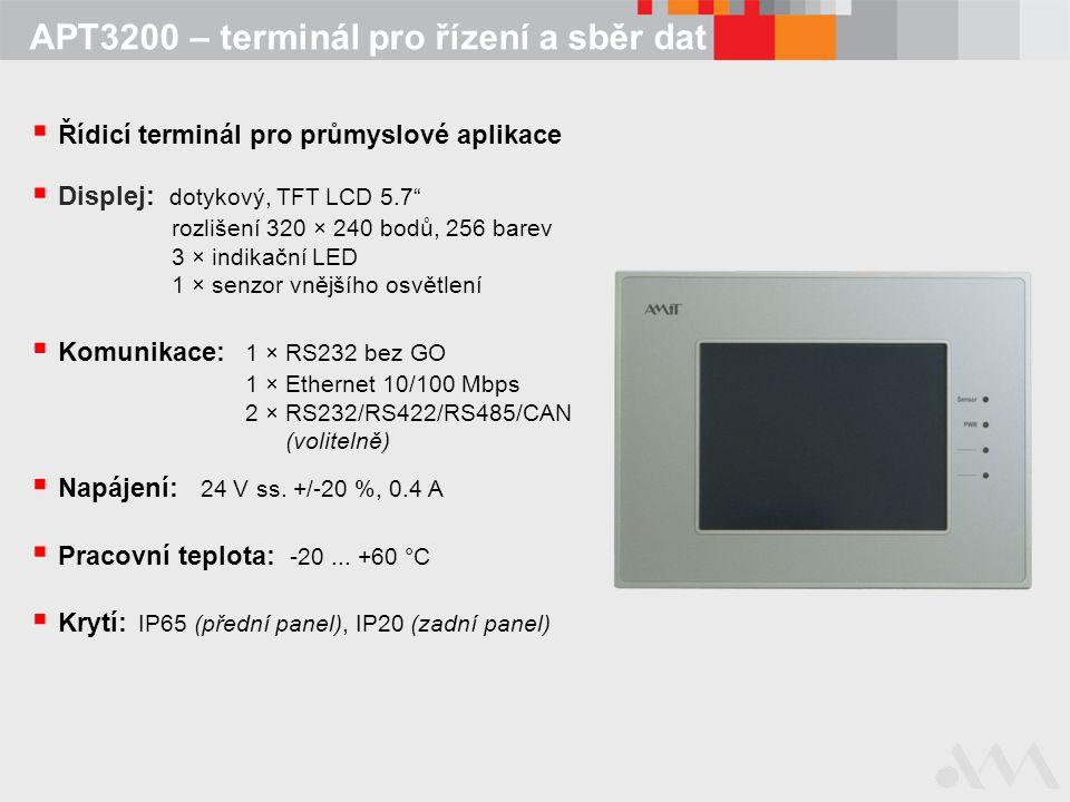 APT3200 – terminál pro řízení a sběr dat
