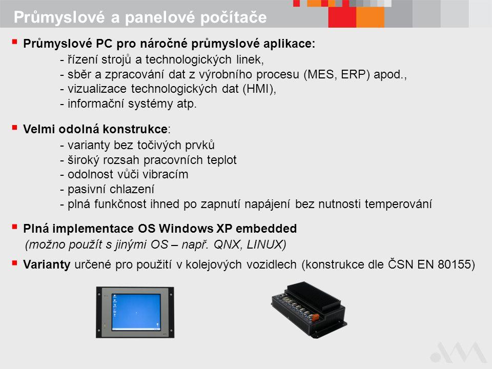 Průmyslové a panelové počítače