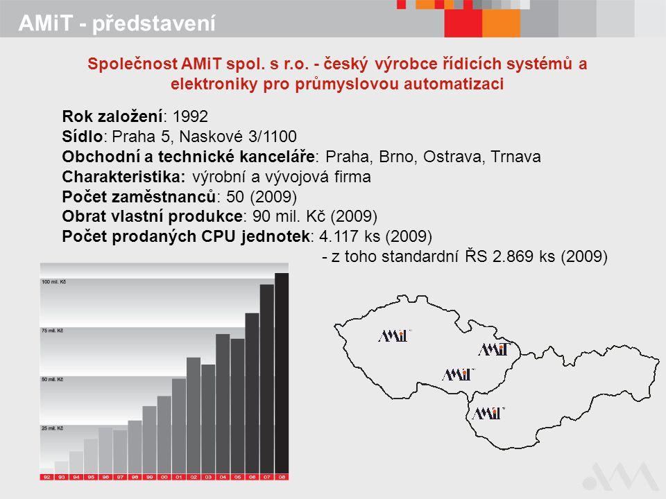 AMiT - představení Společnost AMiT spol. s r.o. - český výrobce řídicích systémů a elektroniky pro průmyslovou automatizaci.