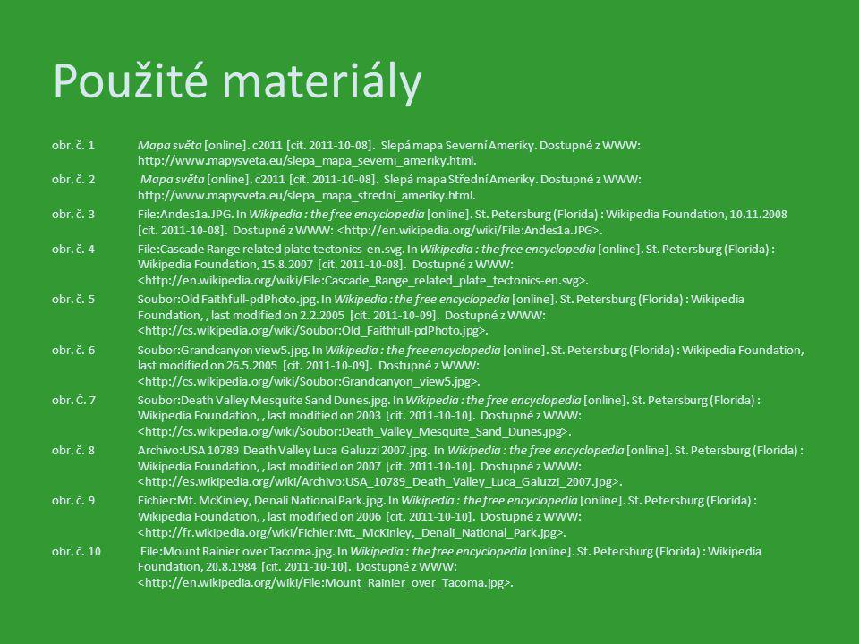 Použité materiály