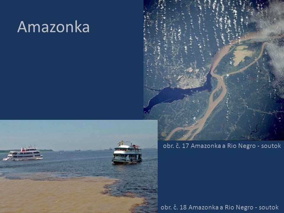 Amazonka obr. č. 17 Amazonka a Rio Negro - soutok