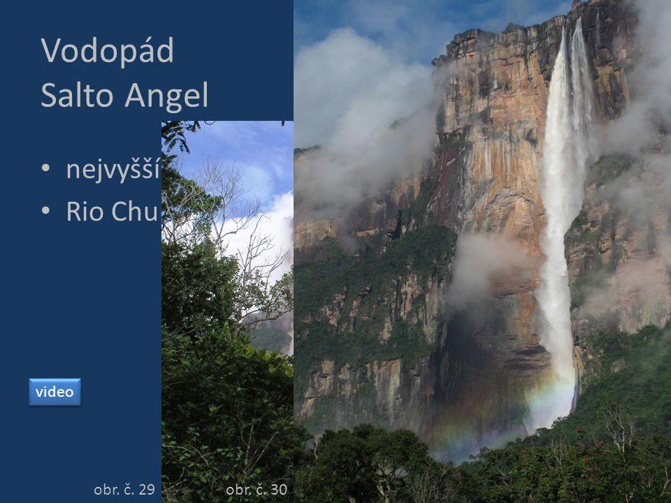 Vodopád Salto Angel nejvyšší vodopád světa – 979 m