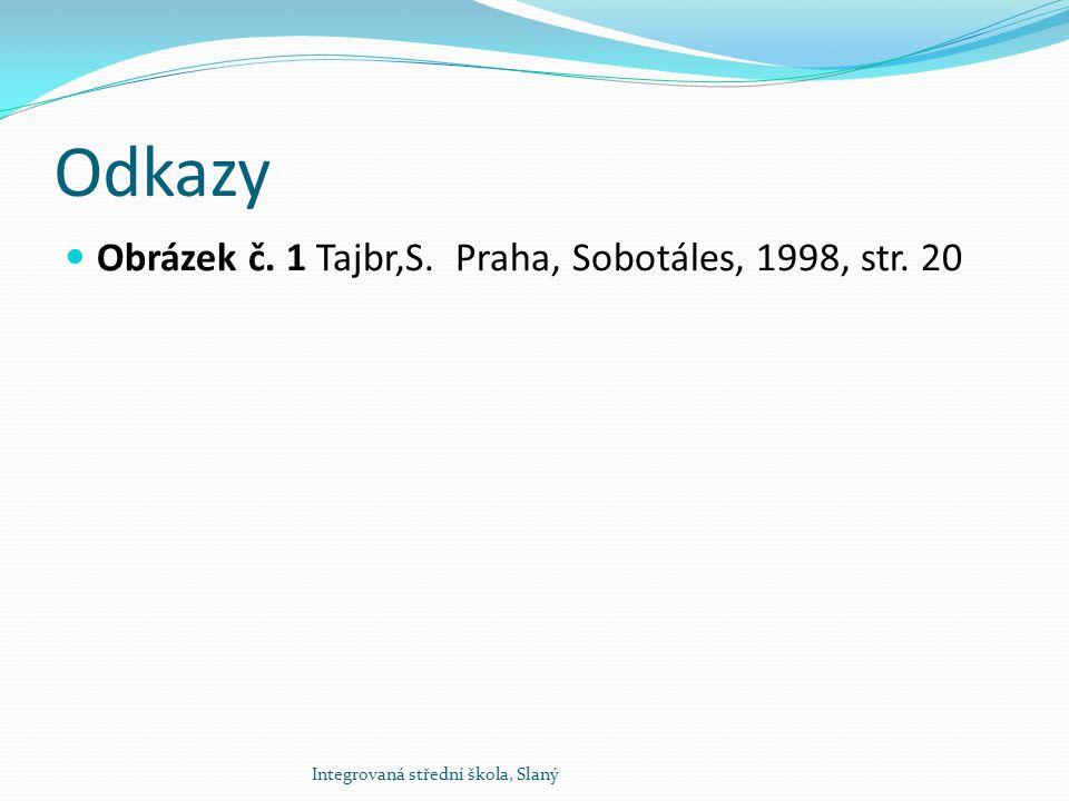 Odkazy Obrázek č. 1 Tajbr,S. Praha, Sobotáles, 1998, str. 20