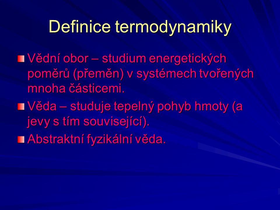 Definice termodynamiky