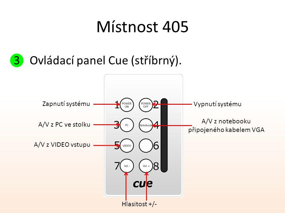 připojeného kabelem VGA