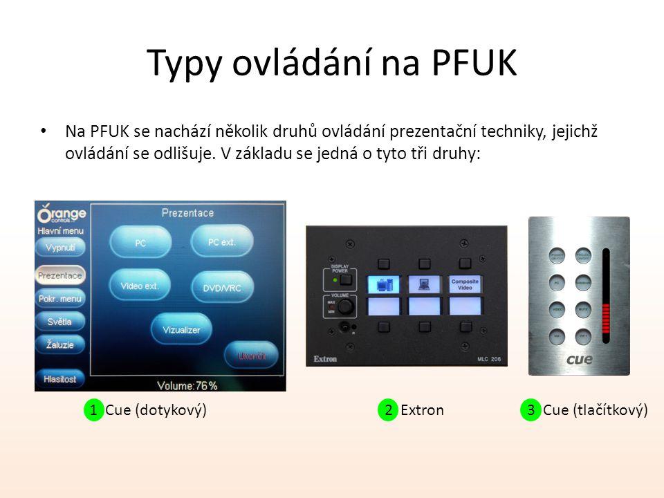 Typy ovládání na PFUK