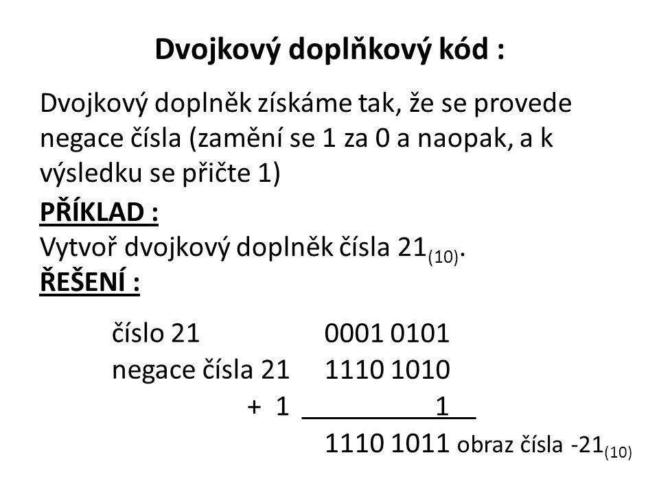 Dvojkový doplňkový kód :