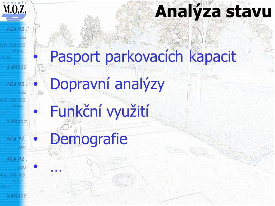 Analýza stavu Pasport parkovacích kapacit Dopravní analýzy