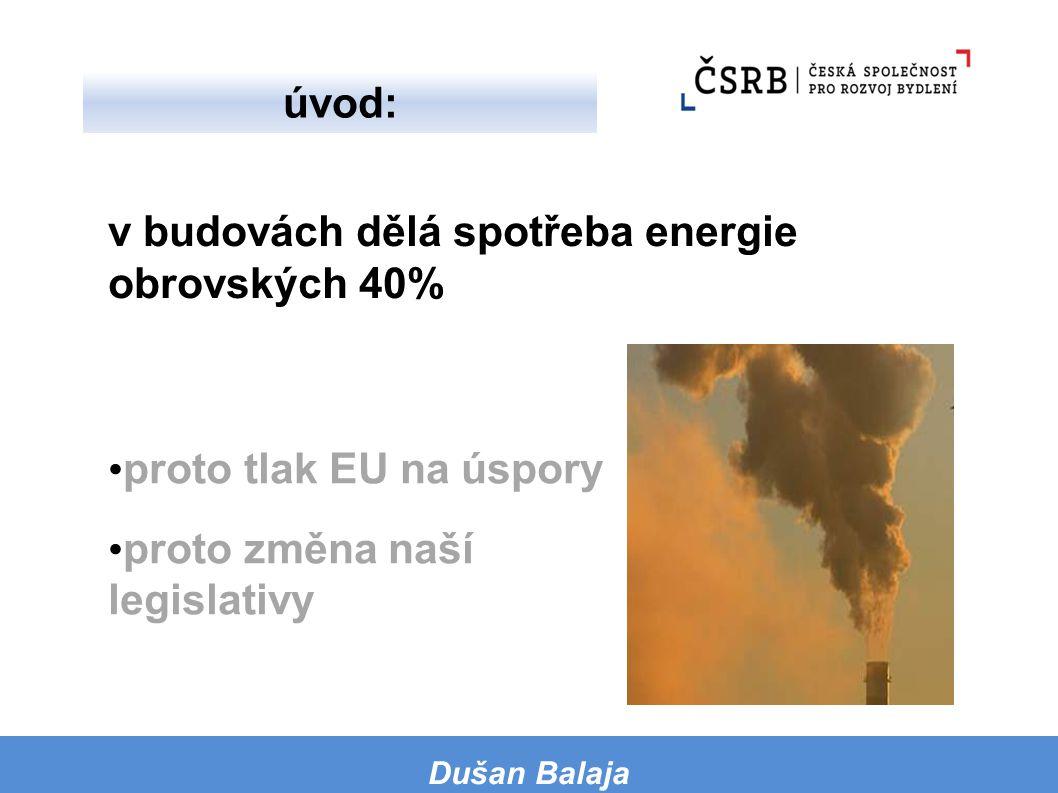 v budovách dělá spotřeba energie obrovských 40%
