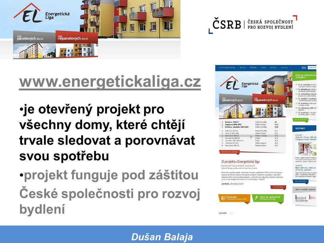 www.energetickaliga.cz je otevřený projekt pro všechny domy, které chtějí trvale sledovat a porovnávat svou spotřebu.