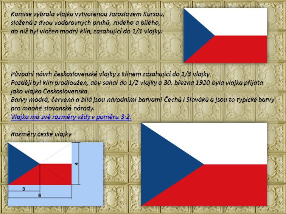 Komise vybrala vlajku vytvořenou Jaroslavem Kursou,