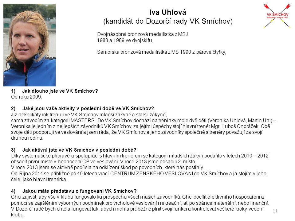 Iva Uhlová (kandidát do Dozorčí rady VK Smíchov)