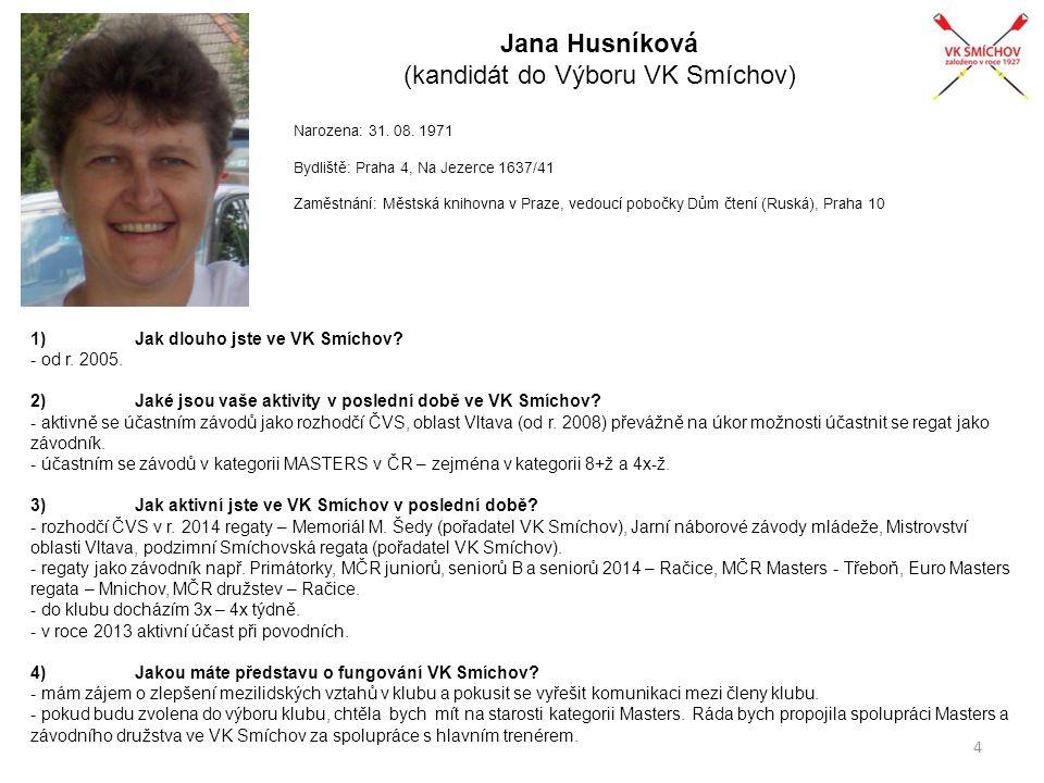 Jana Husníková (kandidát do Výboru VK Smíchov)