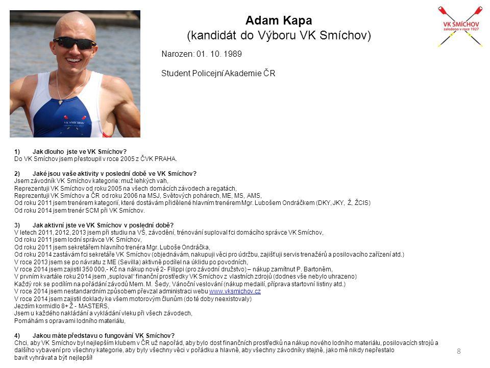 Adam Kapa (kandidát do Výboru VK Smíchov)