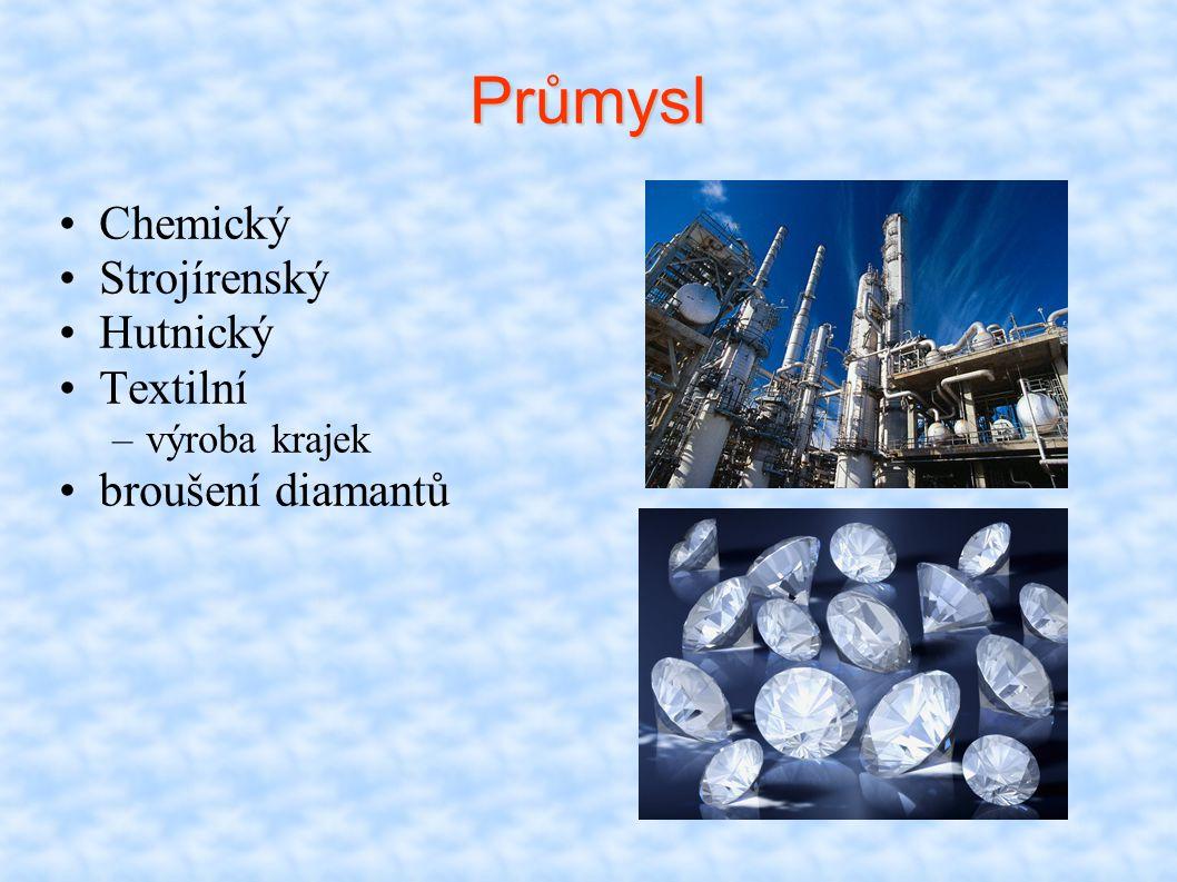 Průmysl Chemický Strojírenský Hutnický Textilní broušení diamantů