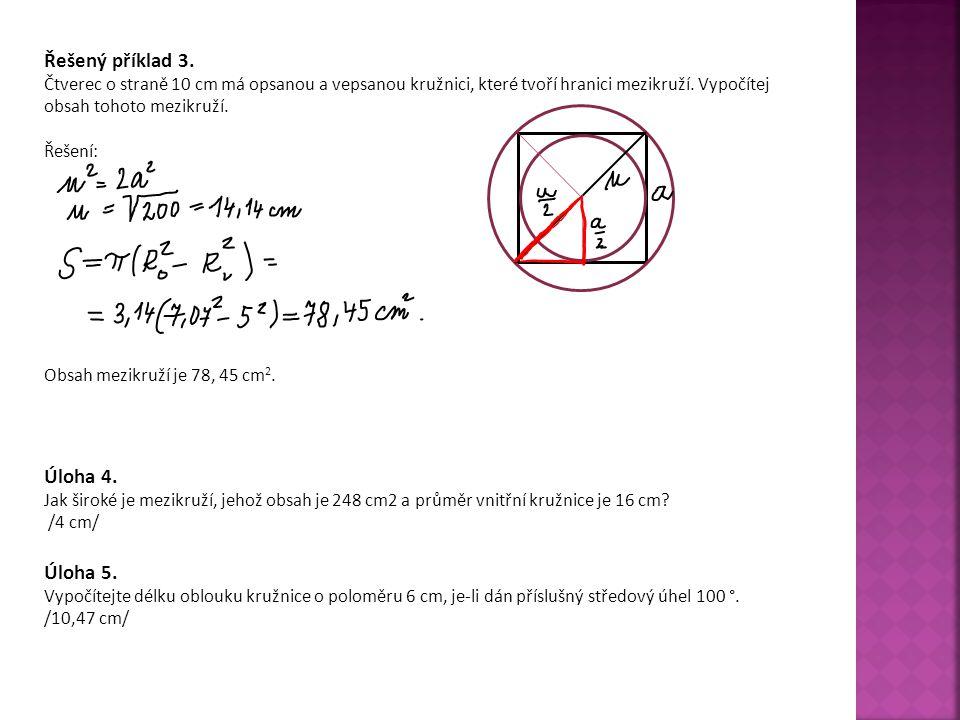 Řešený příklad 3. Úloha 4. Úloha 5.