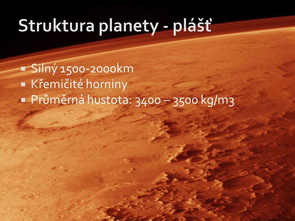 Struktura planety - plášť