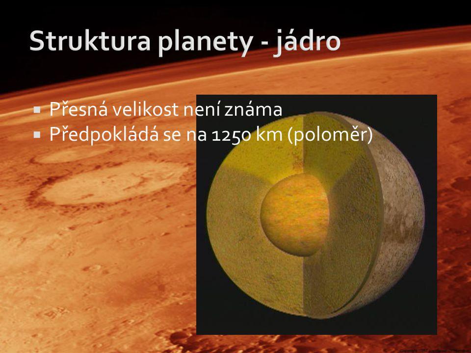 Struktura planety - jádro