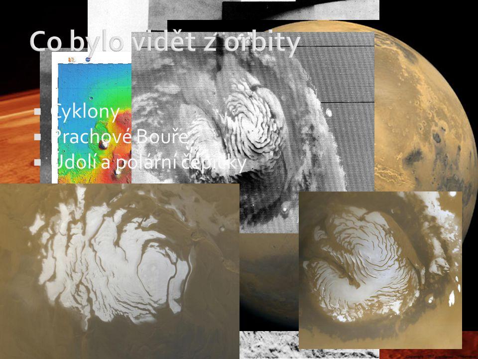 Co bylo vidět z orbity Cyklony Prachové Bouře Údolí a polární čepičky