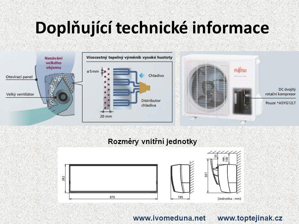 Doplňující technické informace