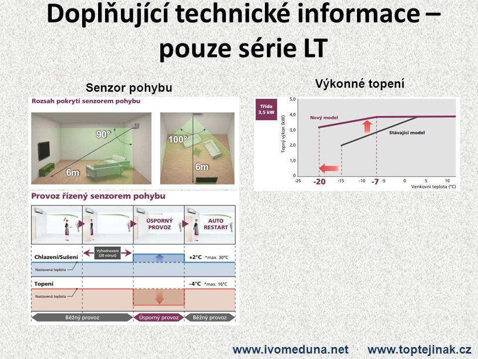 Doplňující technické informace – pouze série LT
