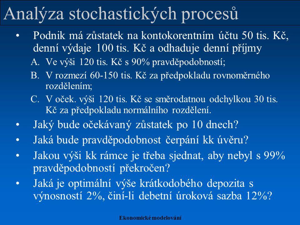 Analýza stochastických procesů