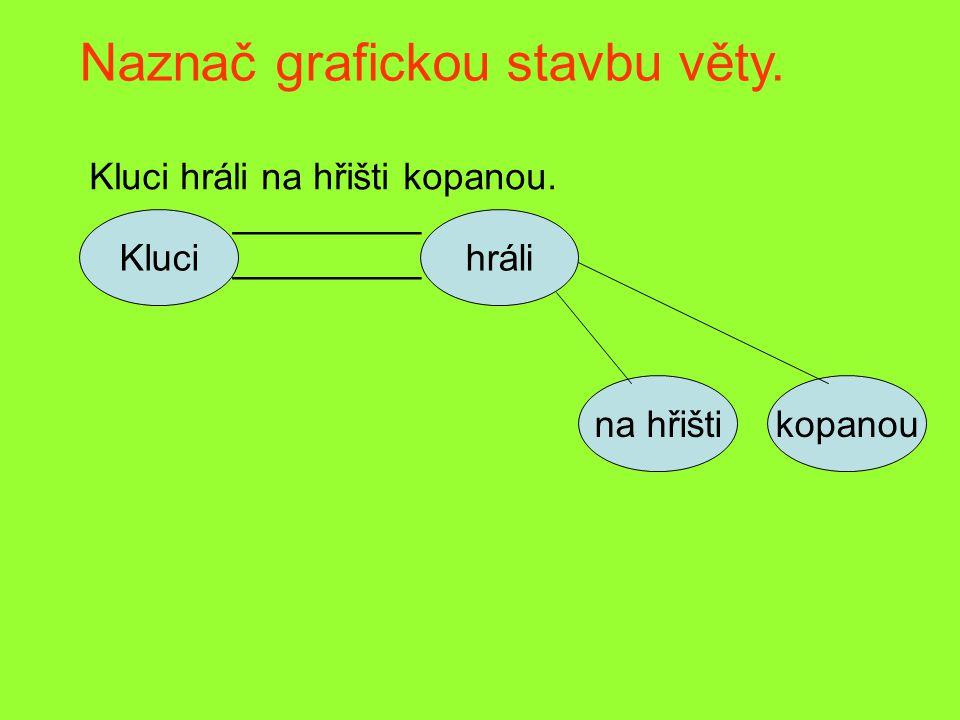 Naznač grafickou stavbu věty.