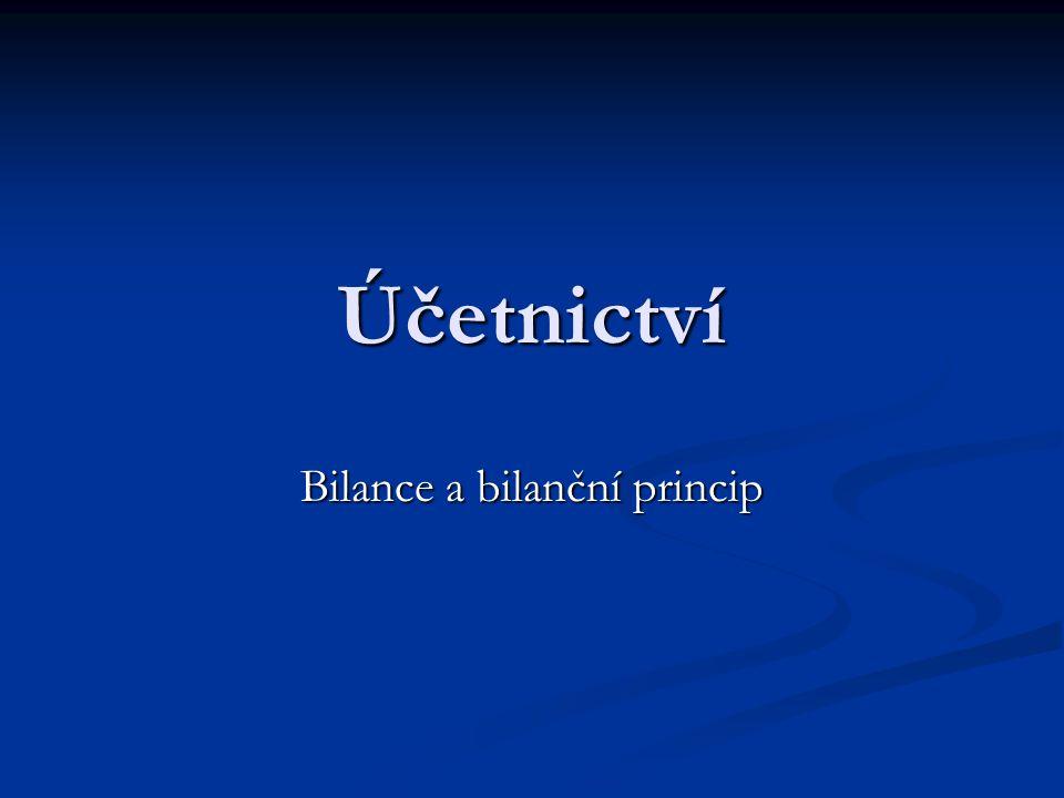 Bilance a bilanční princip